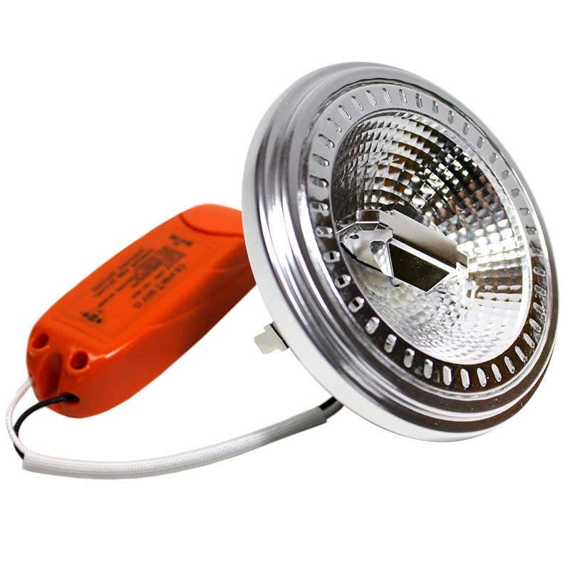 LED AR111, 15W, réglable, Blanc froid, Regulable